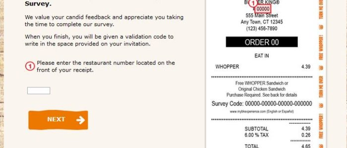 mybkexperience.com – Burger King Survey To Win Free Whopper