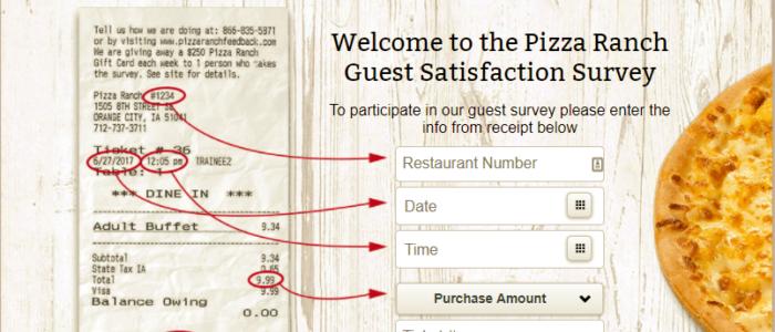 www.pizzaranchfeedback.com – Pizza Ranch Feedback Survey 2021
